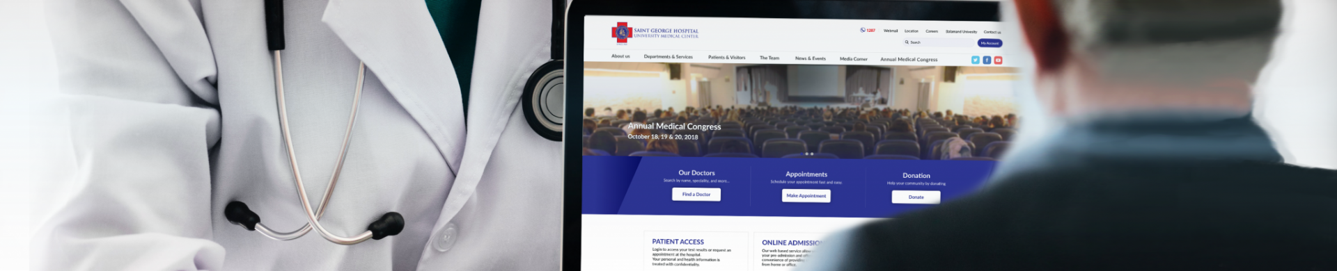 WhiteBeard launches Saint George Hospital's new web site